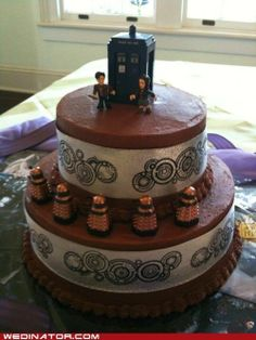Someday I will have a Dr Who themed party (birthday?)  have a cake like this! nerdy-things