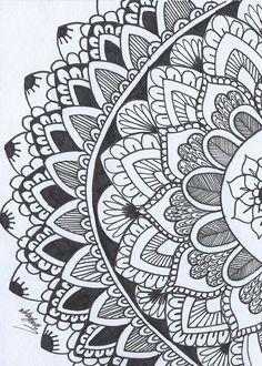 healthy breakfast ideas for kids images clip art designs for women Mandalas Drawing, Zentangle Drawings, Doodle Drawings, Doodle Art, Zentangles, Mandala Pattern, Zentangle Patterns, Pattern Art, Mandala Doodle