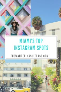 Love photography and taking photos? We've put together an Instagram lover's guide to Miami, with all the best spots to capture that oh-so-perfect Instagram shot when you're traveling. Travel guide Miami.