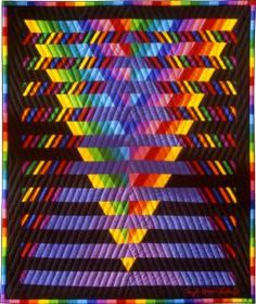Illusion #5: © 1993, Quilt Art Record by Caryl Bryer Fallert