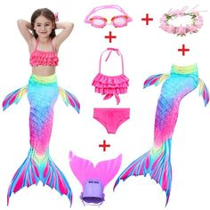 Find More Bikinis Set Information about Girls Mermaid Tail With Finned Swimwear Kids Mermaid Swimsuit Child Wear Split Swimsuit Mermaid Tail Bikini Ch. Girls Mermaid Tail, Mermaid Swim Tail, Mermaid Tails For Kids, Mermaid Swimsuit, Mermaid Swimming, Mermaid Art, Mermaid Paintings, Girls Mermaid Costume, Realistic Mermaid Tails