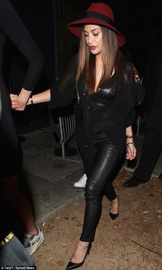 Hell for leather: Rubbing shoulders with a chic crowd at NYFFW clearly had an impact on Nicole Scherzinger, who put on an incredible display as she partied the night away at Warwick nightclub in Los Angeles on Sunday