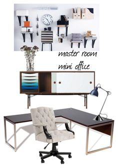 """""""home office"""" by iszann on Polyvore featuring interior, interiors, interior design, home, home decor, interior decorating, Jesper Office, Eichholtz, Arteriors and home office"""