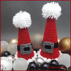 Crochet Tutorial: Sparkle and Puff Holiday Cones | YARNutopia by Nadia Fuad