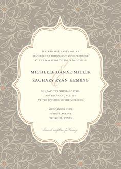 Gray Boho Wedding Invitation