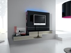 Italian Plasma TV Wall TV Unit, DVD Storage, White or Black £949.99