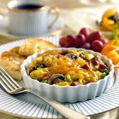 Egg and Potato Skillet with Salami, Mushrooms, and Sweet Peppers {Via Recipe.com}