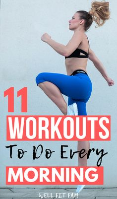 Use these weight loss morning workouts to form a habit that will help you burn fat quickly. One Song Workouts, Mini Workouts, Cheer Workouts, Workout Songs, Quick Workouts, Body Workouts, 8 Minute Workout, 1 Hour Workout, Good Mornings Exercise