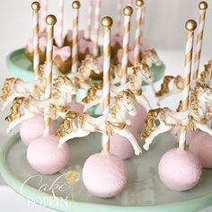 Carousel cake pops                                                                                                                                                                                 More