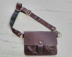 Black Leather Fanny Pack Belt Bag   Etsy Leather Belt Pouch, Leather Fanny Pack, Leather Bag, Black Leather, Hip Purse, Side Purses, Snap Bag, Napa Leather, So Little Time