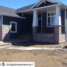 Another great job by with our Peppermill thin Brick veneer ・・・ Peppermill brick slices completed! Thanks to for the bricks and to for constructing a high quality custom home! Thin Brick Veneer, Livingston, Bricks, Custom Homes, Mountain, Construction, Stone, Outdoor Decor, Home Decor