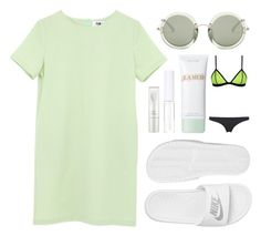 """""""Minty beach"""" by carocuixiao ❤ liked on Polyvore featuring NIKE, The Row, Lord & Berry, La Mer and NARS Cosmetics"""