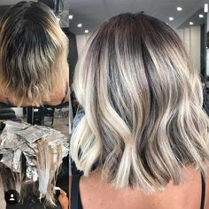 How to transform blonde hair with regrowth into a dimensional darker blonde balayage that grows out perfectly with long lasting results. Ash Blonde Hair Balayage, Bayalage, Ombre Hair, Reverse Balayage, Ash Hair, Balayage Highlights, Blonde Ombre, Short Textured Hair, Short Dark Hair