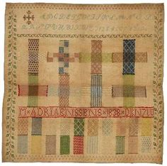Darning or running stitch sampler; Netherland