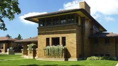 George Barton House. Darwin D. Martin Complex. 1904. Buffalo, New York. Frank Lloyd Wright. Prairie Style.