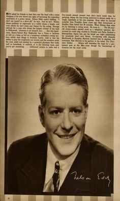NELSON EDDY IN VERY RARE 1941 MAGAZINE PHOTO