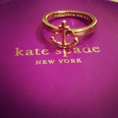 Kate spade anchor ring.