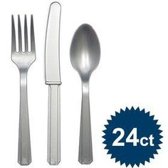 Shop for Silver Cutlery Set and other Solid Tableware party supplies. The most popular party Supplies and Decorations, all available at wholesale prices! 1st Birthday Party Supplies, Birthday Box, 1st Boy Birthday, Birthday Party Decorations, 1st Birthday Parties, Silver Cutlery, Cutlery Set, How To Celebrate Hanukkah, Wholesale Party Supplies