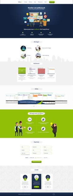 Arkusz - stores application one page Web Design by SycylianBeef