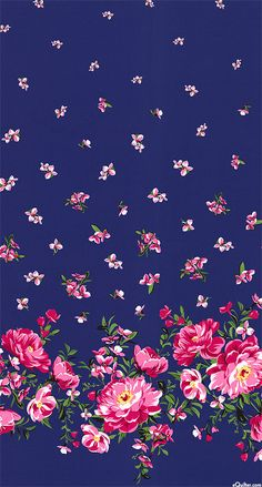 Bed of Roses - Cabbage Rose Border - Quilt Fabrics from www.eQuilter.com