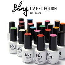 1 Pcs Gel Unha Polonês Gel de Longa-duração Soak-off Unhas de Gel LED Led Brilhante colorido UV 6 ml Unhas de Gel 80 Cores Brasão + Camada De Base UV alishoppbrasil