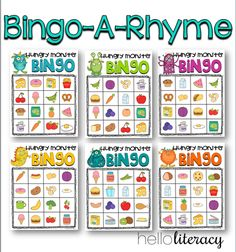 Rhyming Bingo. For both core or intervention instruction in phonemic awareness.