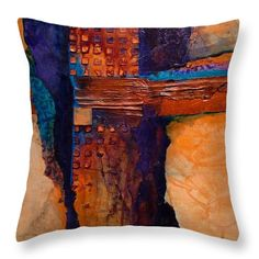Tucson Throw Pillow by Carol Nelson Felt Cushion, Felt Pillow, Wet Felting Projects, Felt Pictures, Mixed Media Sculpture, Fibre Art, Southwest Style, Cushion Covers, Art Tutorials