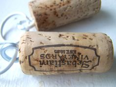 Vintage Wine Cork Key Chain Mens Womens Great for by SweetMeas, $6.50