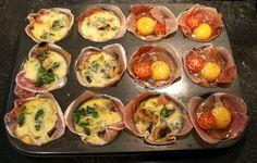 Prosciutto Egg Cups  @SwissPaleo