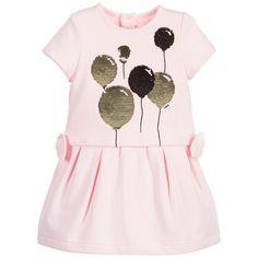 Baby Girls Pink & Gold Sequin Balloon Dress, Little Marc Jacobs, Girl