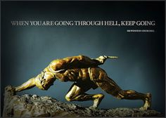 When you're going through hell, keep going. Crossfit Before And After, Crossfit Inspiration, Rest Days, Keep Going, Cool Artwork, Favorite Quotes, Motivation, Obstacle Races, Paleo Fitness