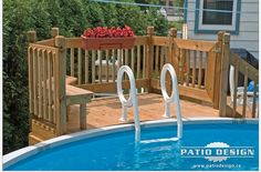 This kind of deck garden is genuinely a powerful style construct. Above Ground Pool Landscaping, Above Ground Pool Decks, Backyard Pool Landscaping, Above Ground Swimming Pools, In Ground Pools, Oberirdische Pools, Cool Pools, Swimming Pools Backyard, Swimming Pool Designs