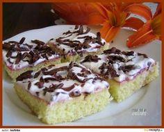 Cuketové řezy se zakysanou smetanou recept - TopRecepty.cz Pumpkin Squash, Zucchini, Cheesecake, Pudding, Cookies, Desserts, Food, Drinks, Pies