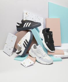 Adidas footwear still life photography for Next. Indoor Photography, Flat Lay Photography, Still Life Photography, Product Photography, Summer Sneakers, Summer Shoes, Ivory Sandals, Sneaker Store, Streetwear Shoes