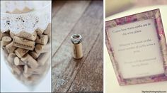 Guessing wine cork game at wedding