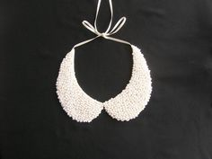 FREE SHIPPING  Handmade white colored pearl peterpan by NurayAytac, $25.00
