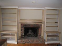 bookshelf plans around fireplace