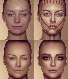 How To Do Make-up – Step By Step Ideas For The Good Look Spotlight contour hypnaughty.make-up samer khouzami mild pores and skin Makeup Contouring, Contouring And Highlighting, Skin Makeup, Highlight Contour Makeup, Makeup Cosmetics, Makeup Eyeshadow, Contour Nose, Drugstore Makeup, Makeup Eyebrows