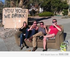 Efficient drinking game