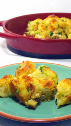 Cheesy Savory Chicken Monkey Bread for 2 People... SO EASY and I added LOTS and LOTS of tips and photo how to's that will GUARANTEE a success.  DELICIOUS RECIPE, Cheese Chicken Onions and eggy custard added to refrigerator biscuits  FANTASTIC