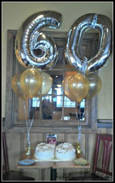 60th birthday cake table