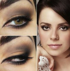 Tutorial - neutral makeup mist inspired by Sandy (besides black pencil and eyeliner)