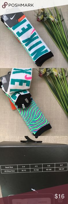 Nike Knee High Kids Socks These Nike Soft Dry Knee High Kids Socks are brand new with tags. Size is 9C - 13C. Pack includes 2 pair of socks. Smoke free home. Nike Accessories Socks & Tights