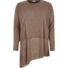 Light brown double layer tunic