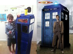 Doctor Who has finally met his match with this new Makedo creation. Thanks for sending the picture in Jonty, David and Alisha, the TARDIS looks just like the real thing!