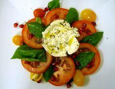 Burrata, Tomato and Basil Salad