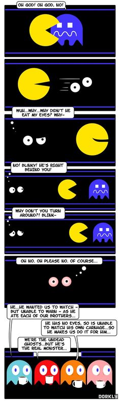 Why Pacman doesn't eat the eyes.