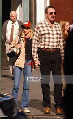 Tom Selleck walks with his wife Sam Elliott, Tom Selleck, Family Values, Blue Bloods, Dream Guy, Actors & Actresses, Sexy Men, Dog Cat, Toms