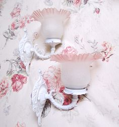 shabby chic light sconces on ETSY