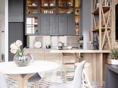 death star kitchen on Behance Kitchen Room Design, Kitchen Cabinet Design, Kitchen Decor, Urban Kitchen, New Kitchen, Modern Kitchen Cabinets, Kitchen Furniture, Simple Apartment Decor, Grey Kitchens